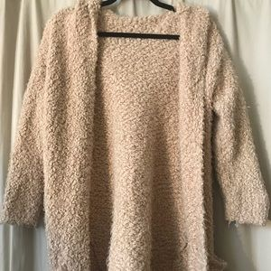 Fuzzy Teddy Hooded Cardigan